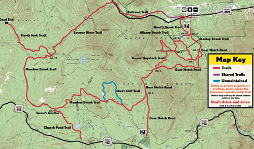 White Mountain Trail Club Map Digital Download - White Mountain ...